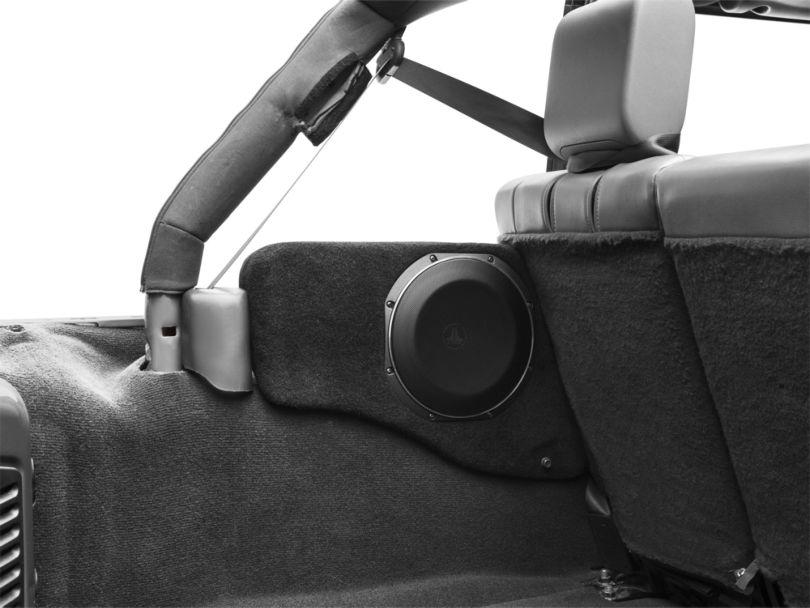JL Audio Stealthbox Subwoofer w/ Cargo Area Enclosure - Driver Side (07-18 Jeep Wrangler JK 4 Door)