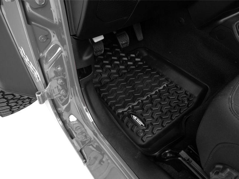 Rugged Ridge All-Terrain Front and Rear Floor Mats; Black (18-20 Jeep Wrangler JL 4 Door)