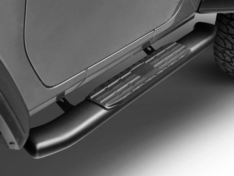 RedRock 4x4 PNC Side Step Bars - Textured Black (18-20 Jeep Wrangler JL 2 Door)
