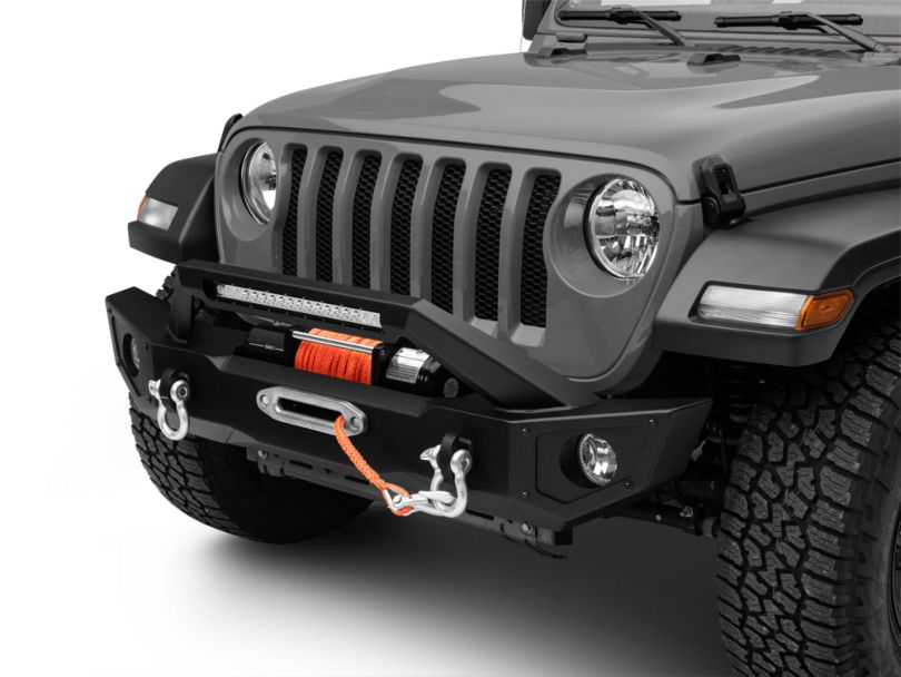 Barricade HD Front Bumper w/ 20 in. Light Bar (18-20 Jeep Wrangler JL)