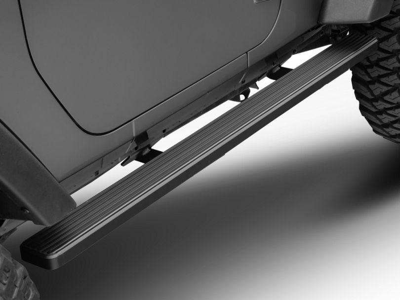 4-Inch iStep Running Boards; Black (07-18 Jeep Wrangler JK 2 Door)