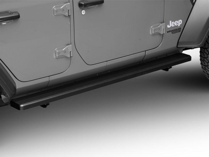 6 in. iStep Running Boards - Black (18-20 Jeep Wrangler JL 4 Door)