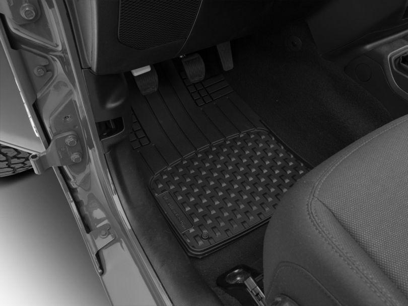 Weathertech AVM Trim-to-Fit 4-Piece Front & Rear Liners - Black (87-20 Jeep Wrangler YJ, TJ, JK & JL)