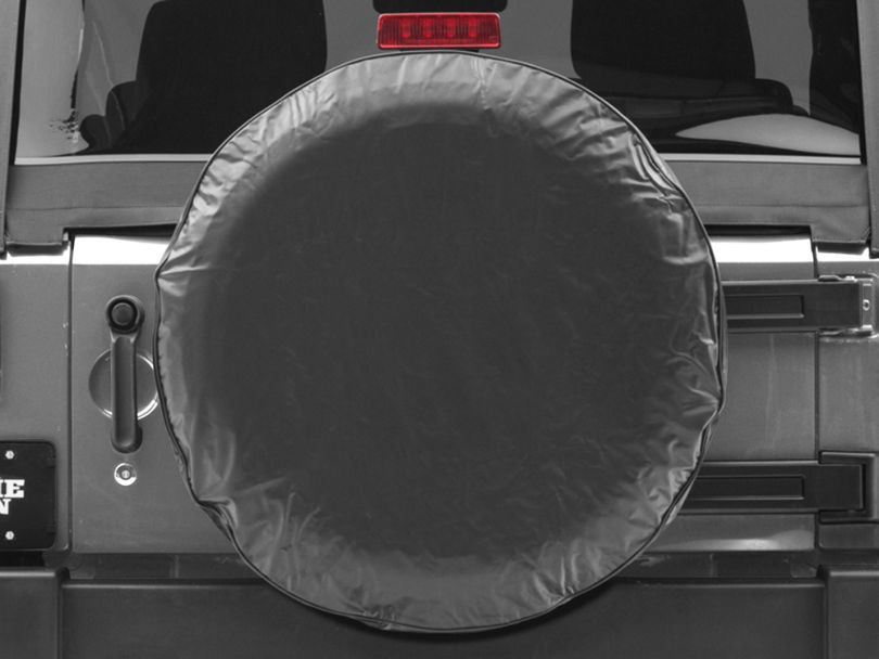 Spare Tire Cover - Solid Black (87-19 Jeep Wrangler YJ, TJ, JK & JL)