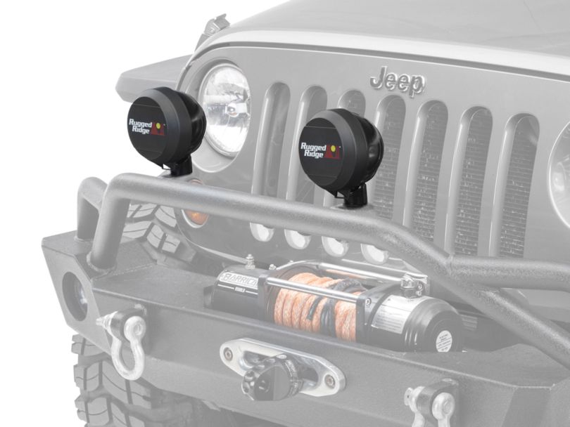 Rugged Ridge 5 in. HID Off-Road Light Cover - Black