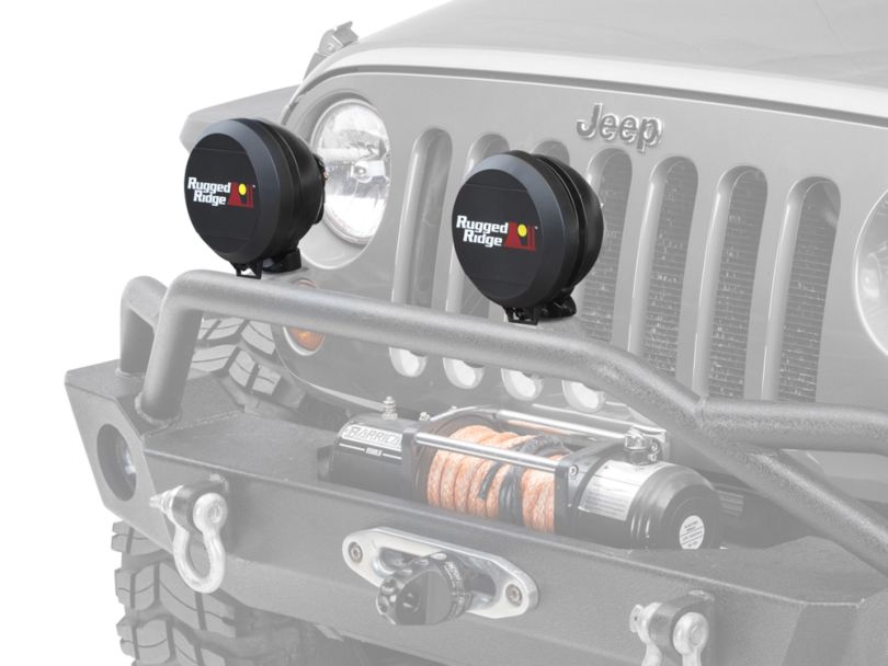 Rugged Ridge 6-Inch HID Off-Road Light Cover - Black