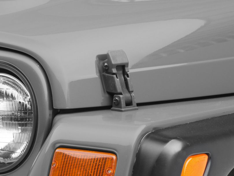 Rugged Ridge Hood Catch and Bracket Kit (97-06 Jeep Wrangler TJ)