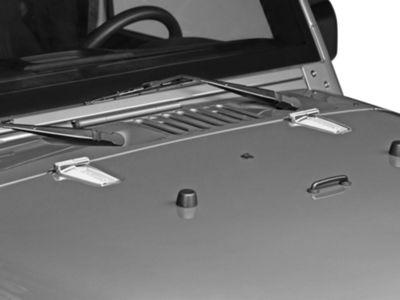Rugged Ridge Hood Hinge Kit - Stainless Steel (07-18 Jeep Wrangler JK)