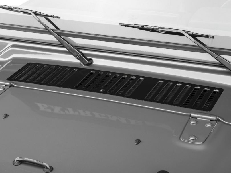 Rugged Ridge Hood Vent Cover - Black (97 Jeep Wrangler TJ)