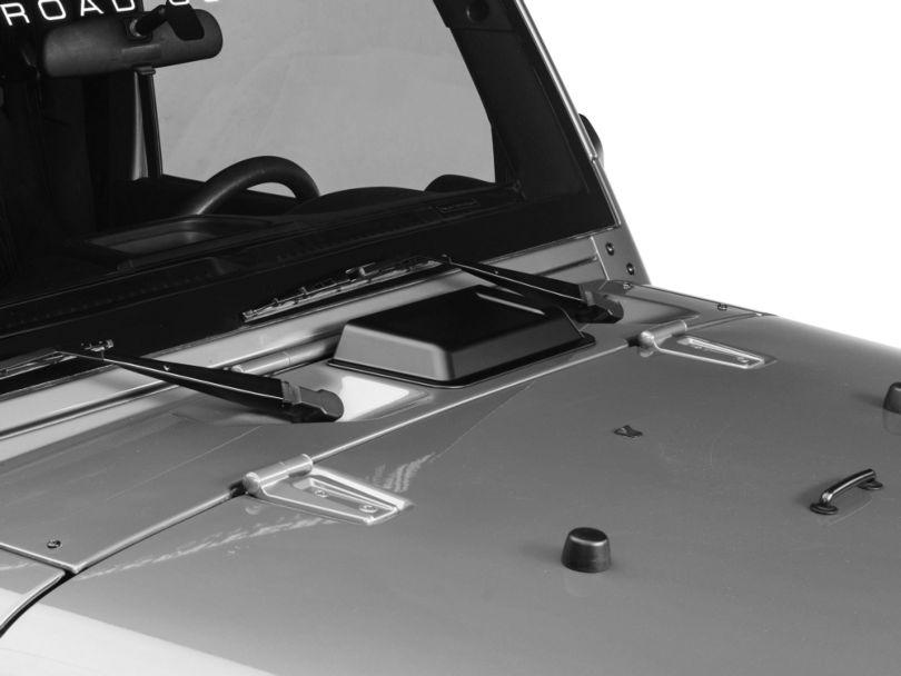 Rugged Ridge Hood Vent Scoop - Black (98-18 Jeep Wrangler TJ & JK)