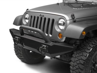 Add Rugged Ridge Hoop Over Rider for XHD Front Bumper - Textured Black (87-17 Wrangler YJ, TJ & JK)
