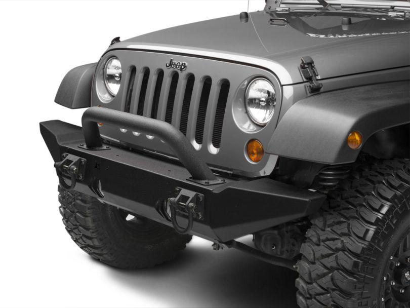 Rugged Ridge Hoop Over Rider for XHD Front Bumper - Textured Black (87-20 Jeep Wrangler YJ, TJ, JK & JL)