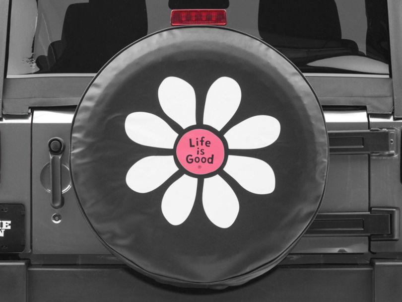 Life is Good Daisy Lig Spare Tire Cover (87-20 Jeep Wrangler YJ, TJ, JK & JL)