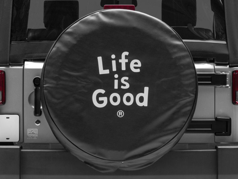 Life is Good Evolved Stack Spare Tire Cover (87-20 Jeep Wrangler YJ, TJ, JK & JL)
