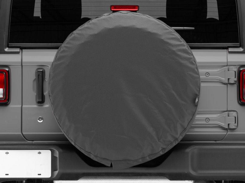Bestop Spare Tire Cover; Black Denim (87-20 Jeep Wrangler YJ, TJ, JK & JL)