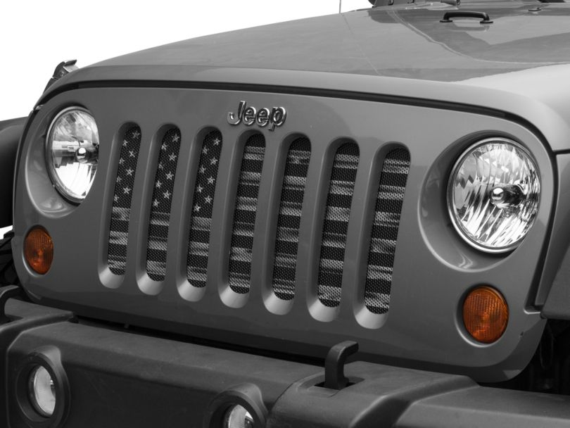 Dirty Acres Grille Insert - American Stealth Tactical (07-18 Jeep Wrangler JK)