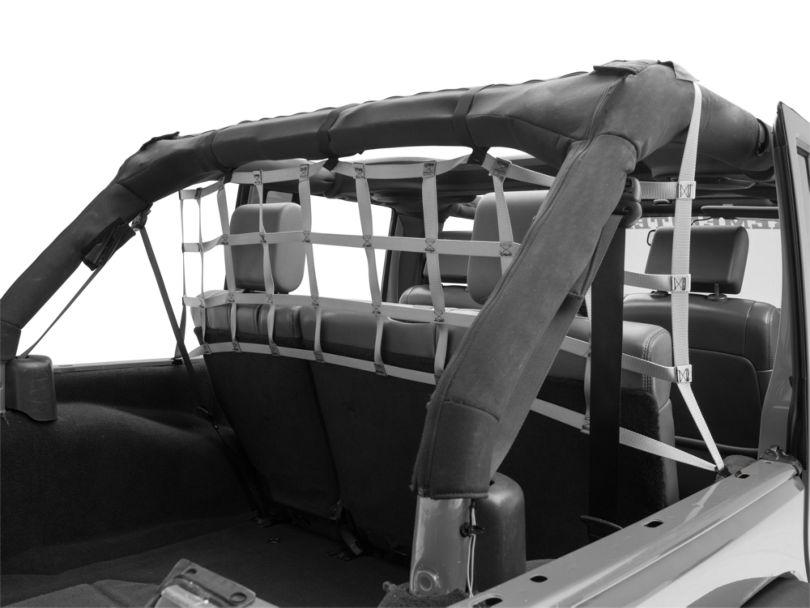 Aspen Rear Pet Barrier Net - Silver (07-18 Jeep Wrangler JK 4 Door)