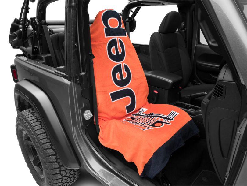 Seat Armour Towel 2 Go - Orange (87-20 Jeep Wrangler YJ, TJ, JK & JL)