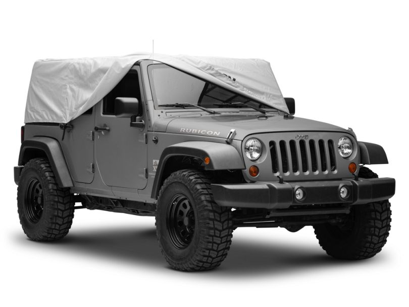 Mopar Cab Cover w/ Jeep Logo - Silver (07-18 Jeep Wrangler JK 4 Door)