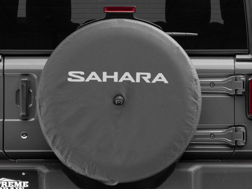 Mopar 32 in. Sahara Spare Tire Cover - Black (18-20 Jeep Wrangler JL)