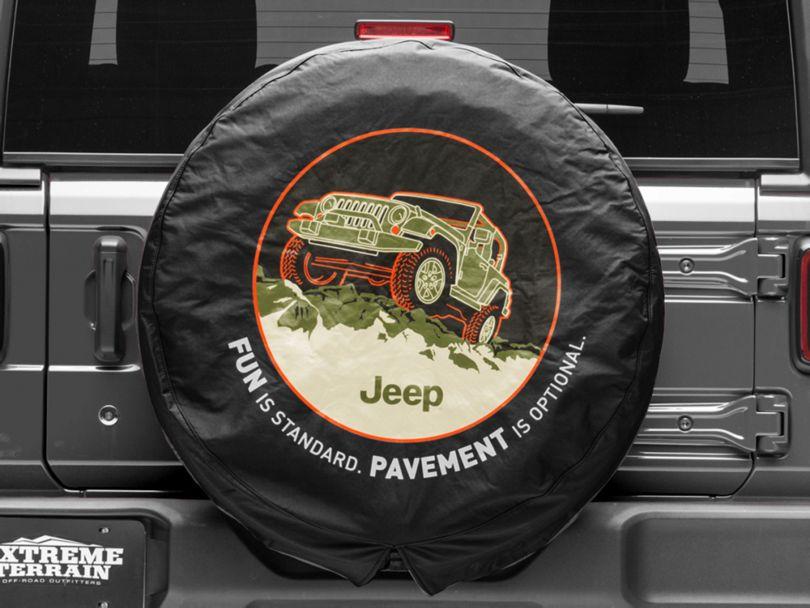 Mopar Pavement Optional Spare Tire Cover (87-20 Jeep Wrangler YJ, TJ, JK & JL)