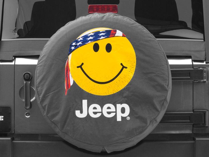 Mopar Smiley Face with Bandana Jeep Spare Tire Cover (87-20 Jeep Wrangler YJ, TJ, JK & JL)