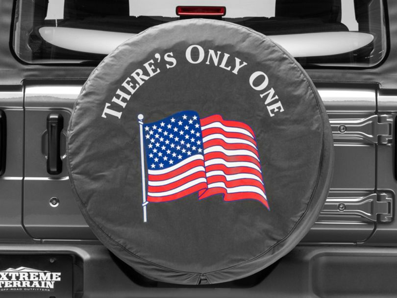 Mopar There's Only One American Flag Spare Tire Cover (87-20 Jeep Wrangler YJ, TJ, JK & JL)