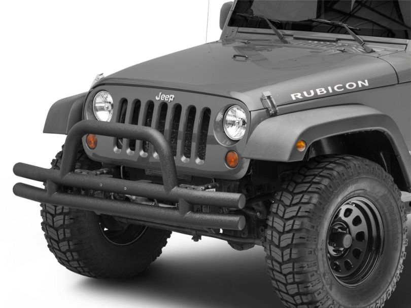 RedRock 4x4 Tubular Front Bumper - Textured Black (07-18 Jeep Wrangler JK)