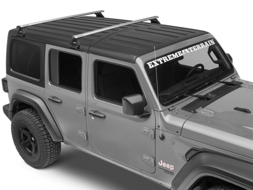Rhino-Rack Vortex RL100 2-Bar Roof Rack; Silver (18-20 Jeep Wrangler JL 4 Door)