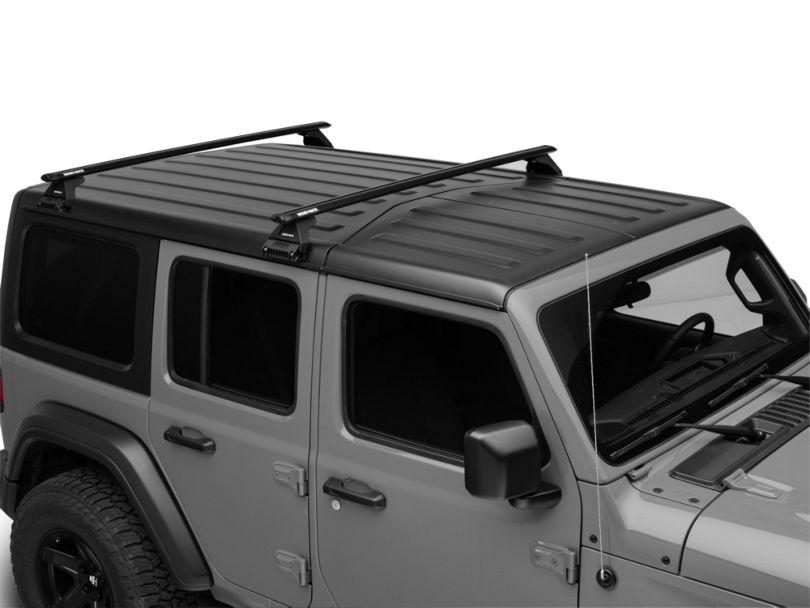 Rhino-Rack Vortex RL110 2-Bar Roof Rack; Black (18-20 Jeep Wrangler JL 4 Door)