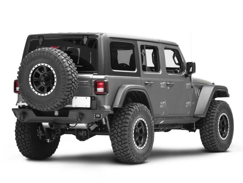 Deegan 38 Rear Bumper w/ Tire Carrier (18-20 Jeep Wrangler JL)