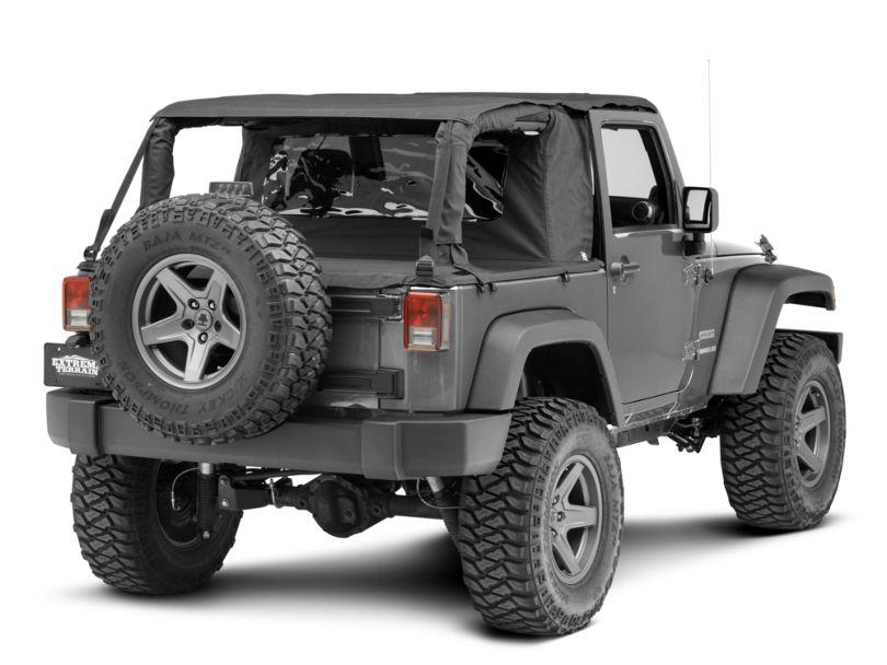 Suntop Cargo Cover; Black Diamond (07-18 Jeep Wrangler JK 2 Door)