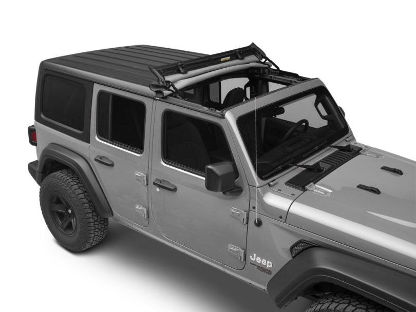 Bestop Sunrider for Factory Hard Tops - Black Diamond (18-20 Jeep Wrangler JL)