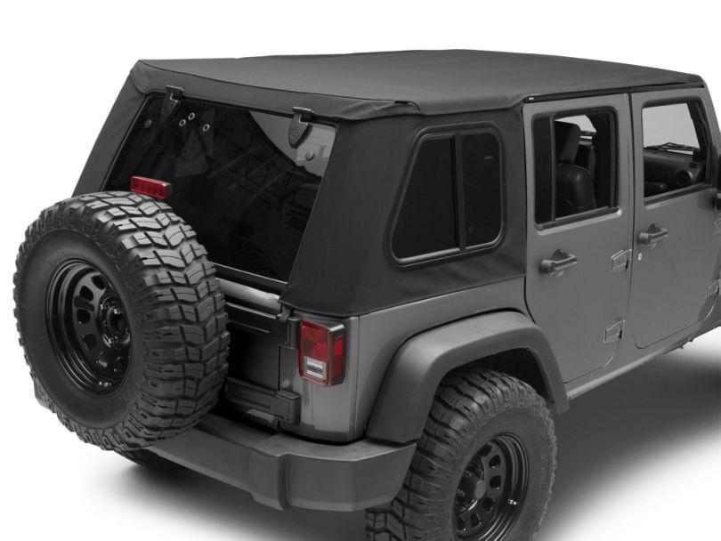 Bestop Trektop Pro Hybrid Soft Top - Black Twill (07-18 Jeep Wrangler JK 4 Door)