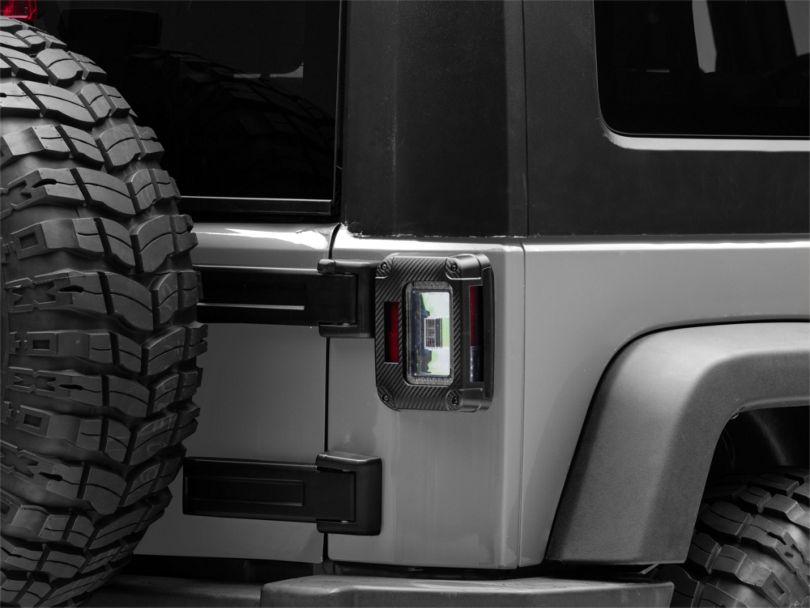 Morimoto XB LED Tail Lights - Carbon Fiber (07-18 Jeep Wrangler JK)