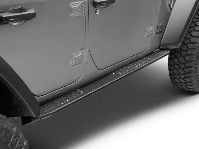 Deegan 38 Rock Sliders w/ LED Rock Lights (18-20 Jeep Wrangler JL 4 Door)