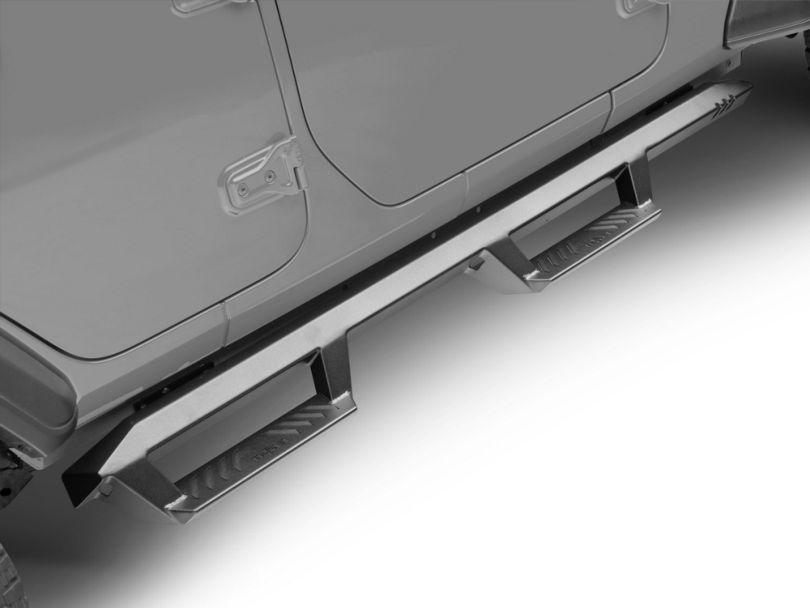 N-Fab EpYx Cab Length Nerf Side Step Bars - Textured Black (18-20 Jeep Wrangler JL 4 Door)