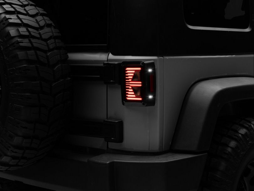 Axial Vision LED Tail Lights; Smoked (07-18 Jeep Wrangler JK)