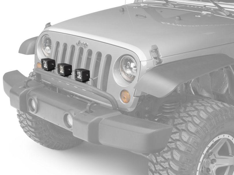 Rugged Ridge Front Bumper Mounted Light Bar - Textured Black (07-18 Jeep Wrangler JK)