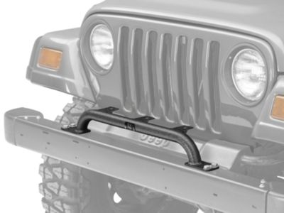 Add Rugged Ridge Bumper Mounted Light Bar - Textured Black (97-06 Wrangler TJ)