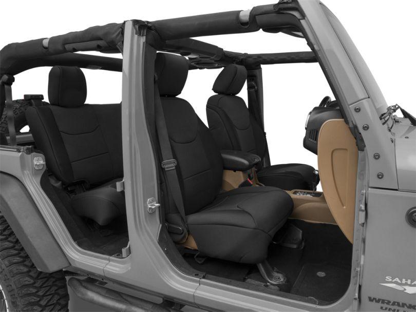 RedRock 4x4 Custom Fit Front and Rear Seat Covers; Black (13-18 Jeep Wrangler JK 4 Door)