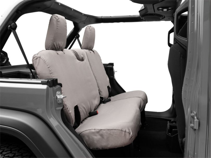 Covercraft SeatSaver Second Row Seat Cover; Gray (18-20 Jeep Wrangler JL 4 Door)