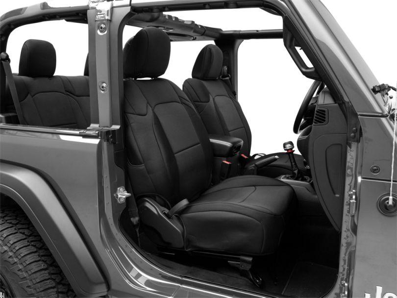 TruShield Custom Fit Front & Rear Seat Covers - Black (18-20 Jeep Wrangler JL 2 Door)