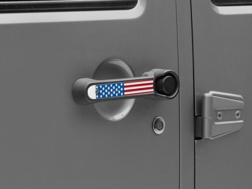 RedRock 4x4 Old Glory Door Handle Inserts - 5pc (07-18 Jeep Wrangler JK 4 Door)