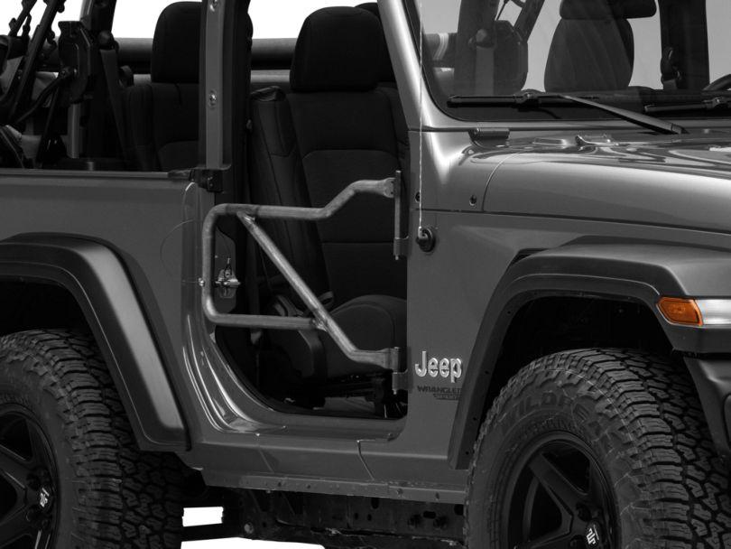 Steinjager Front Trail Tube Doors - Bare Metal (18-20 Jeep Wrangler JL)