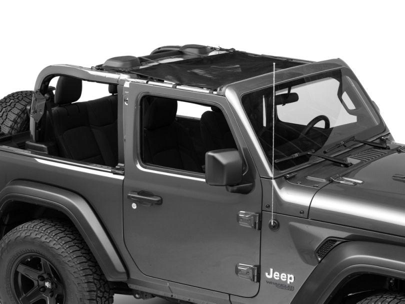 Rugged Ridge Front Eclipse Sun Shade - Black (18-20 Jeep Wrangler JL 2 Door)