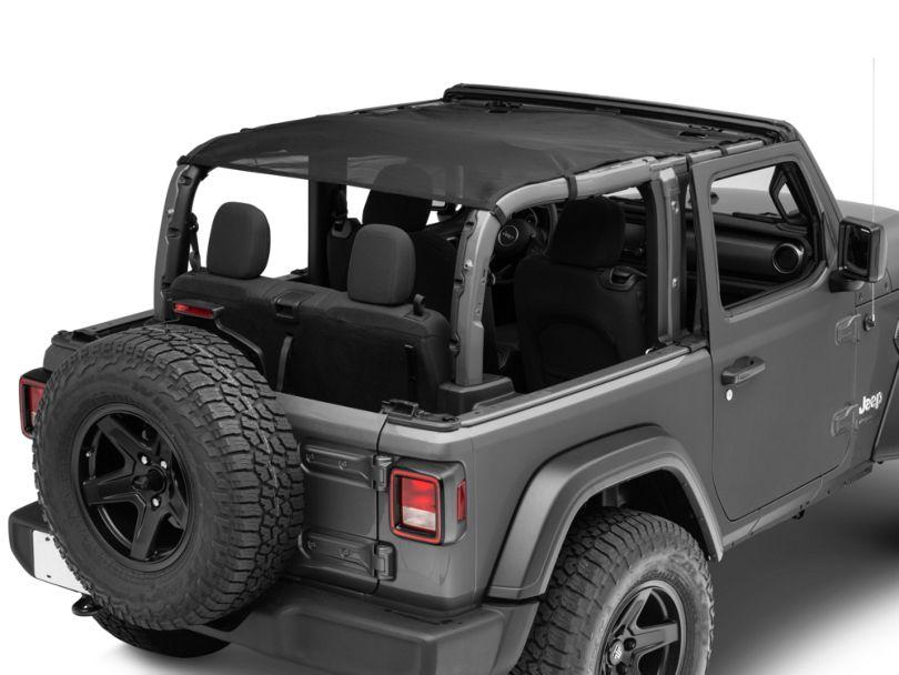 Rugged Ridge Full-Length Eclipse Sun Shade - Black (18-20 Jeep Wrangler JL 2 Door)