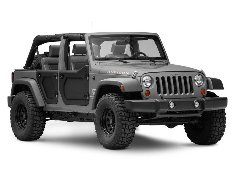 Bestop Front Lower Core Doors - Black (07-18 Jeep Wrangler JK)