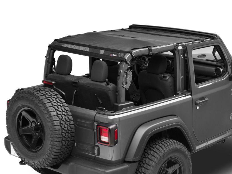JTopsUSA Mesh Shade Top - Black (18-20 Jeep Wrangler JL 2 Door)