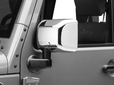 Rugged Ridge Mirror Covers - Chrome (07-18 Jeep Wrangler JK)